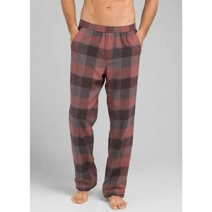 Prana Asylum Lined PJ Pant Large Mens Flannel Thermal Plaid Pajama Lounge